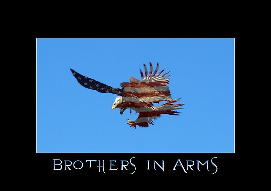 """Brothers in Arms"" Patriotic Poster  by Val  Brackenridge"