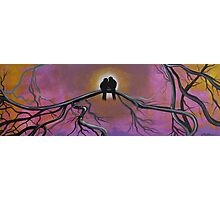 Birds Of A Feather, Tree Painting Photographic Print