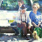 Un petit chien de Sarlat ....(Oil version)2011 . by vasenoir