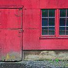 The Red Barn Door and Window by Jennifer Hulbert-Hortman
