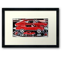 Red Hot Wheels Framed Print