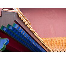 Forbidden City Architectural Detail Photographic Print