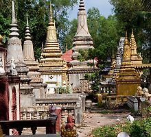 Wat Bo Stupas by phil decocco