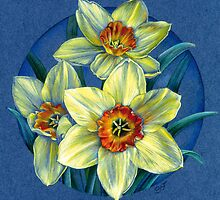 Daffodils - the joys of spring  by Sarah Trett