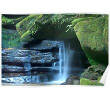Who says blue and green should never be seen_Somersby Falls Poster