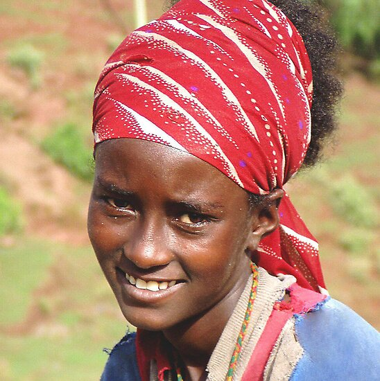 Ethiopia: Young Woman near Lalibela by Laurel Talabere