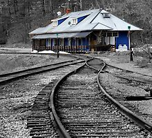 Old Train Station - Wakefield Quebec by Debbie Pinard