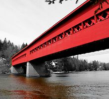 The Old Covered Bridge - Wakefield Quebec by Debbie Pinard