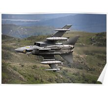 Underside shot of Panavia Tornado GR4 ZA452 Making a low pass of CAD East Poster