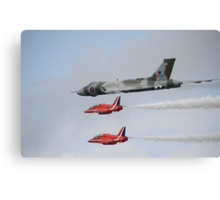 Vulcan XH558 with the Red Arrows Canvas Print