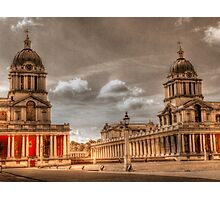 Sepia Old Royal Naval College - Greenwich Photographic Print