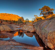 The Rock Pool - Mannum Falls, Murraylands, South Australia by Mark Richards