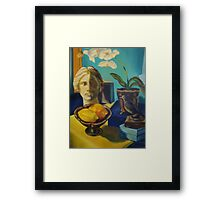 Bathed in Yellow Light Framed Print