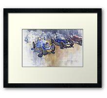 Bugatti 51 Alfa Romeo 8C 1933 Monaco GP Framed Print