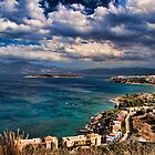 Beach scene in Crete by InterfaceImages
