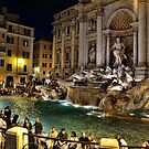 Trevi Fountain at night by InterfaceImages