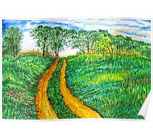 The Dirt Road-Homage to van Gogh. Poster