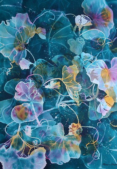 Watercolour: Rockmelon vine by Marion Chapman