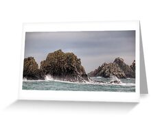 Waves Crashing on the Gannet Rocks Greeting Card