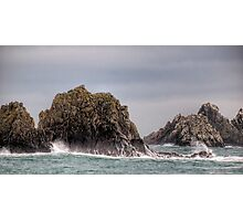 Waves Crashing on the Gannet Rocks Photographic Print
