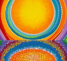 Luminescent sun reflection by Elspeth McLean