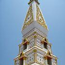 Blue Sky Stupa by Hugh Fathers