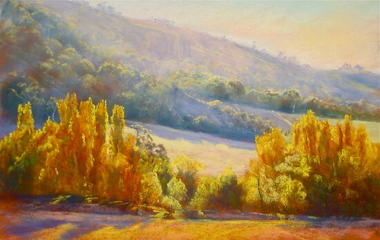Autumn Afternoon - Trawool by Lynda Robinson