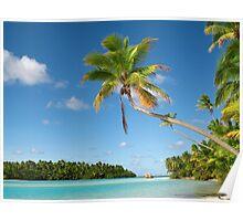 One Foot Island, near Aitutaki, the Cook Islands Poster