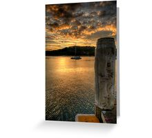 Dock In The Bay - Newport,Sydney - The HDR Experience Greeting Card