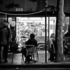 Macquarie street store at night by Distan