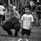 Little boy and his mum by Distan