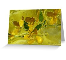 Floral with oil and water Greeting Card