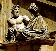 Statue of Tiberinus, Rome by buttonpresser