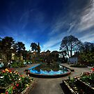 Centre of Portmeirion on a Spring day by Owen Burke