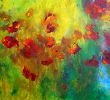 Red and Orange Poppies by ClaireBull