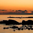 sunset fishing, galway by Michelle McMahon