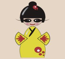 Kokeshi Doll Tee & Sticker by michellerena