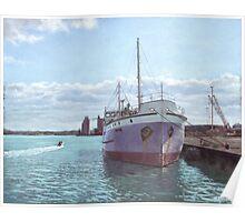 Southampton docks SS Shieldhall ship Poster