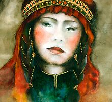 Portrait of nomad woman by Marianna Venczak