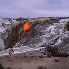 The fall of the sun? - Yellowstone Park by Marlies Odehnal