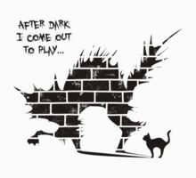 After dark (sticker and light tshirt) by Purplecactus