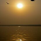 Sunrise, River Ganges India by Kelly McGill