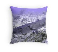 Up Close and Personal with a Barracuda Throw Pillow