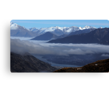 Queenstown from Crown Range Road Canvas Print