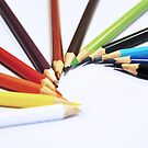 Colorful Pencils - Canon EOS 550D 55 - 300 mm by Nasko .