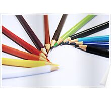 Colorful Pencils - Canon EOS 550D 55 - 300 mm Poster