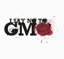 NO GMO graffiti art print / sticker by SFDesignstudio