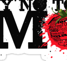 NO GMO graffiti art print / sticker Sticker