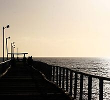 Top Of Largs Jetty by Cherie Vivar