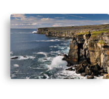 aran island cliffs Canvas Print